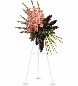 Elegant Tribute Spray in Newark CA, Angels 24 Hour Flowers<br>510.794.6391