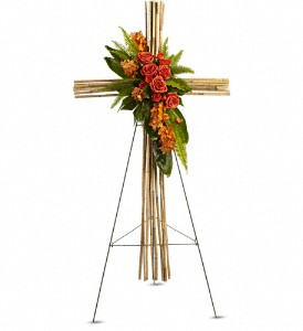 River Cane Cross in Holladay UT, Brown Floral