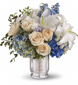 Teleflora's Seaside Centerpiece in Warsaw KY, Ribbons & Roses Flowers & Gifts