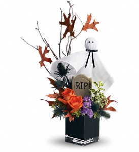 Teleflora's Ghostly Gardens in North Syracuse NY, The Curious Rose Floral Designs