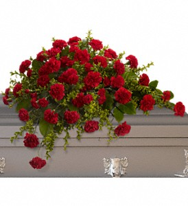 Adoration Casket Spray in San Mateo CA, Dana's Flower Basket<br>650-571-5251