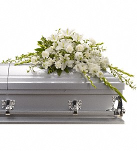 Bountiful Memories Casket Spray in Chicago IL, Chicago Flower Company
