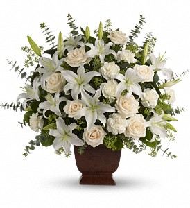 Teleflora's Loving Lilies and Roses Bouquet in Mount Morris MI, June's Floral Company & Fruit Bouquets
