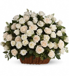 Bountiful Rose Basket in Mount Morris MI, June's Floral Company & Fruit Bouquets