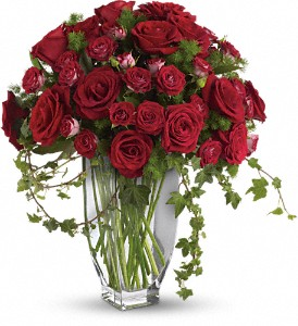 Teleflora's Rose Romanesque Bouquet - Red Roses in Santa Monica CA, Edelweiss Flower Boutique