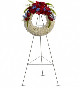 Reflections of Glory Wreath in Pendleton IN, The Flower Cart