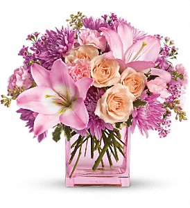 Teleflora's Possibly Pink in San Diego CA, <i><b>Edelweiss Flower Salon  858-560-1370</i></b>