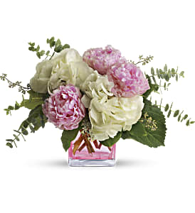 Teleflora's Pretty in Peony in Warwick RI, Yard Works Floral, Gift & Garden