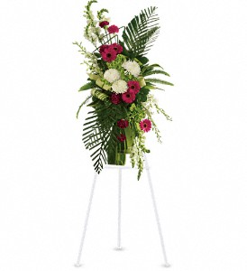 Gerberas and Palms Spray in New York NY, Fellan Florists Floral Galleria
