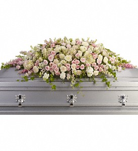 Always Adored Casket Spray in San Mateo CA, Dana's Flower Basket<br>650-571-5251