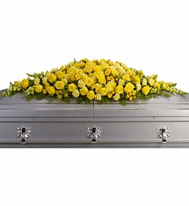 Golden Garden Casket Spray in Big Rapids, Cadillac, Reed City and Canadian Lakes MI, Patterson's Flowers, Inc.
