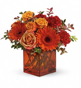 Teleflora's Sunrise Sunset in Austintown OH, Crystal Vase Florist