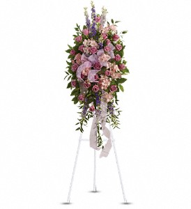 Finest Farewell Spray in Bakersfield CA, White Oaks Florist
