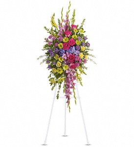 Bright and Beautiful Spray in Benton Harbor MI, Crystal Springs Florist