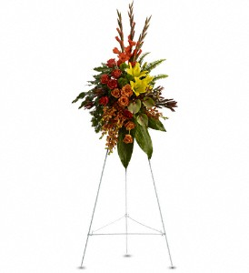 Tropical Tribute Spray in Norwich NY, Pires Flower Basket, Inc.