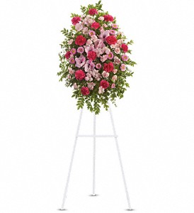 Pink Tribute Spray in Mount Morris MI, June's Floral Company & Fruit Bouquets