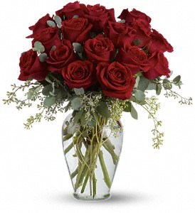 Full Heart - 16 Premium Red Roses in Santa Monica CA, Edelweiss Flower Boutique