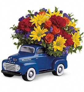 Teleflora's '48 Ford Pickup Bouquet in Islandia NY, Gina's Enchanted Flower Shoppe