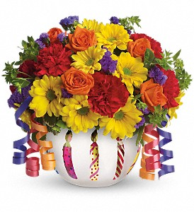 Teleflora's Brilliant Birthday Blooms in Inverness FL, Flower Basket