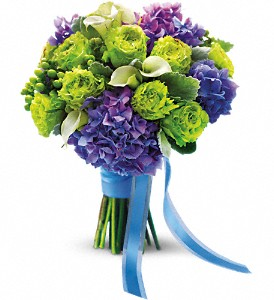 Luxe Lavender and Green Bouquet in Villa Park CA, The Flowery