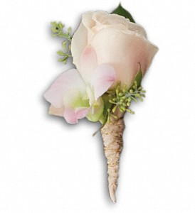 Dashing Boutonniere in Canton NC, Polly's Florist & Gifts