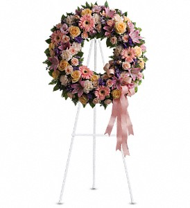 Graceful Wreath in Bakersfield CA, White Oaks Florist