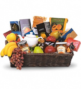 Grande Gourmet Fruit Basket in Mount Morris MI, June's Floral Company & Fruit Bouquets