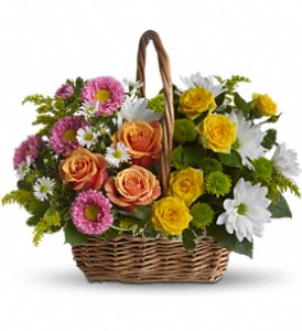 Sweet Tranquility Basket in Riverside CA, Mullens Flowers