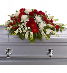 Strength and Wisdom Casket Spray in Dallas TX, In Bloom Flowers, Gifts and More