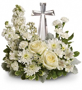 Teleflora's Divine Peace Bouquet in Houston TX, Village Greenery & Flowers