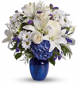 Beautiful in Blue PM in Caledonia NY, The Village Florist