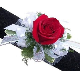 Single Red Rose Corsage in Eugene OR, Dandelions Flowers
