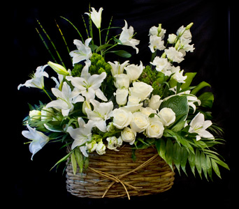 Funeral Basket in Darien CT, Nielsen's Florist And Garden Shop