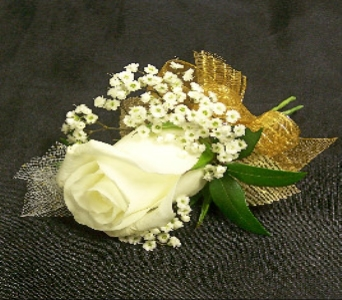 White Rose Boutonniere in Mesa AZ, Watson Flower Shops