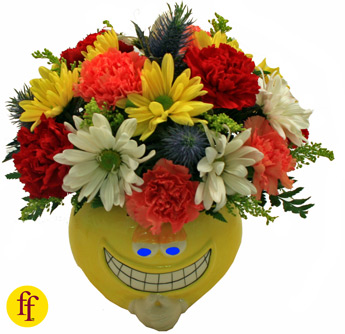 Flowerfolks: The Grinster, Mixed Arrangment in Newport News VA, Pollards Florist