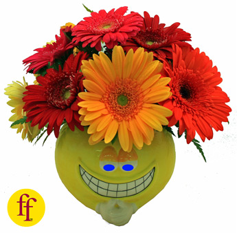 Flowerfolks: Grinster wears Gerbs in Newport News VA, Pollards Florist