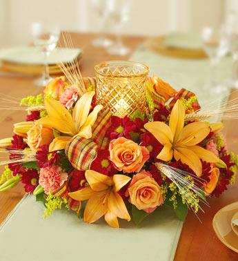 Harvest Glow Centerpiece in Burlington NJ, Stein Your Florist