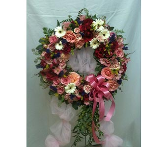 Blushing Pink Wreath in Coplay PA, The Garden of Eden