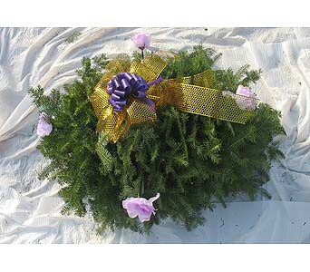 3 Foot blanket with flowers or pine cones in Southfield MI, McClure-Parkhurst Florist