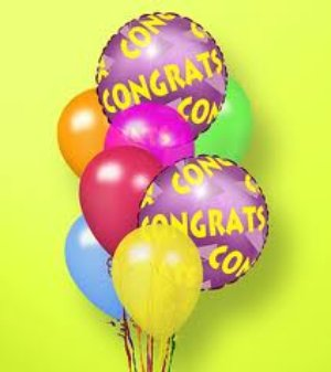 Steve's Congratulations Balloon Bouquet in Indianapolis IN, Steve's Flowers and Gifts