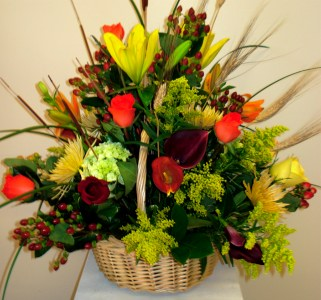 Plantation Fall Basket in Naples FL, Gene's 5th Ave Florist