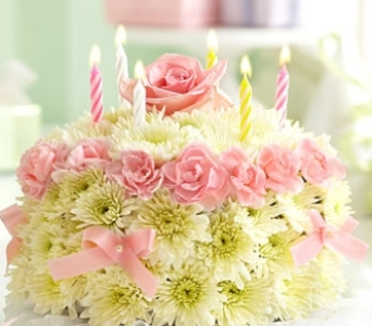 Birthday Flower Cake� Pastel in Colorado Springs CO, Sandy's Flowers & Gifts