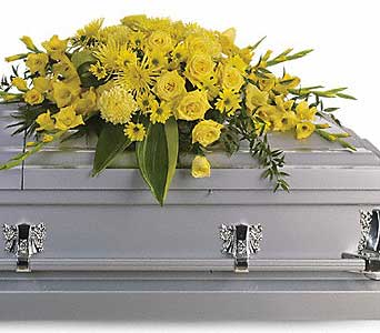 Graceful Grandeur Casket Spray in Bethesda MD, Suburban Florist