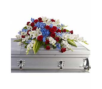 Distinguished Service Casket Spray in Bethesda MD, Suburban Florist