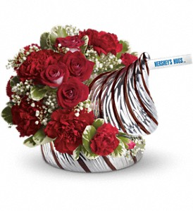 HERSHEY'S HUGS Bouquet by Teleflora in Houston TX, Village Greenery & Flowers