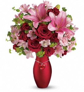 Teleflora's Charm Her Bouquet in East Providence RI, Carousel of Flowers & Gifts