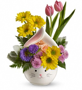 Teleflora's Easter Bunny Bouquet in Houston TX, Village Greenery & Flowers