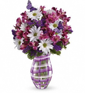 Teleflora's Lavender Plaid Bouquet in Grass Lake MI, Designs By Judy