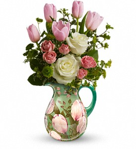 Teleflora's Spring Pitcher Bouquet in Brentwood CA, Flowers By Gerry