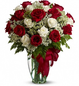 Love's Divine Bouquet - Long Stemmed Roses in Bement IL, Petals and Porch Posts